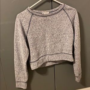 Cropped Crew-Neck Sweater